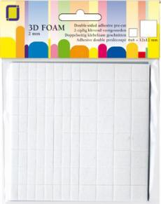 3.3132 3D Foampads square/rectangle 12mm + 12x6mm x2mm