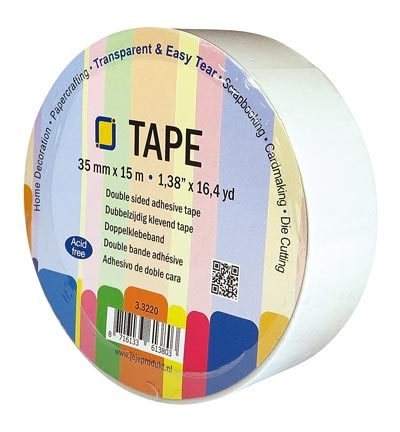 3.3220 Double sided clear adhesive tape 35 mm x 15 meter
