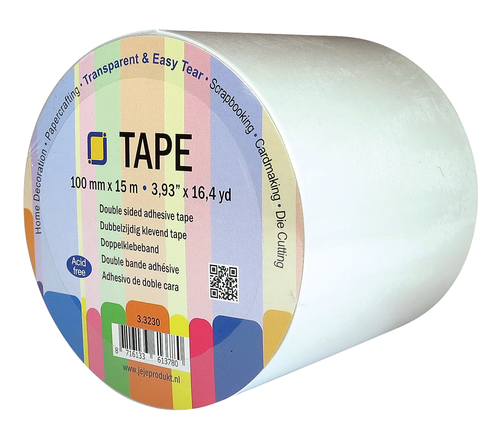 3.3230 Double sided clear adhesive tape 100 mm x 15 meter