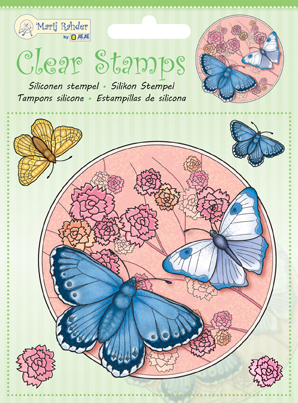 9.0033 MRJ Clear stamps Butterfly