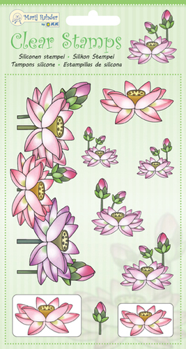 9.0035 MRJ Clear Stamps Lotus