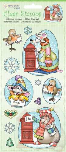 9.0037 Clear Stamps Winter animals