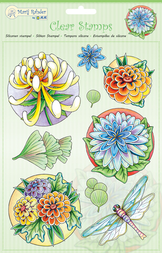 9.0038 MRJ Clear Stamps Flowers