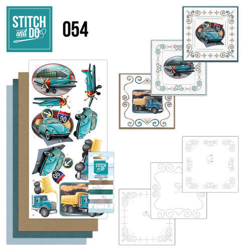 STDO054 Stitch and Do 54 - Vintage Vehicles