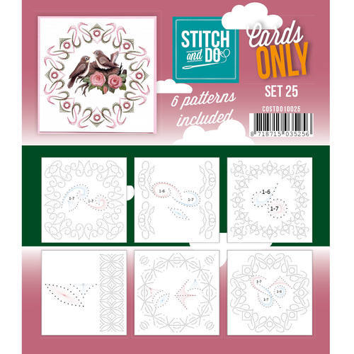 COSTDO10025 Stitch & Do - Cards only - Set 25