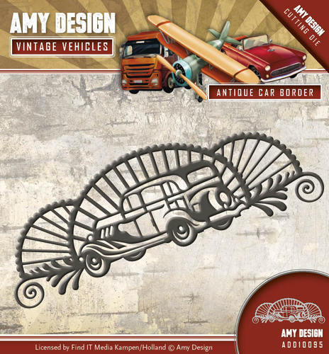 ADD10095 Die - Amy Design - Vintage Vehicles - Antique car border