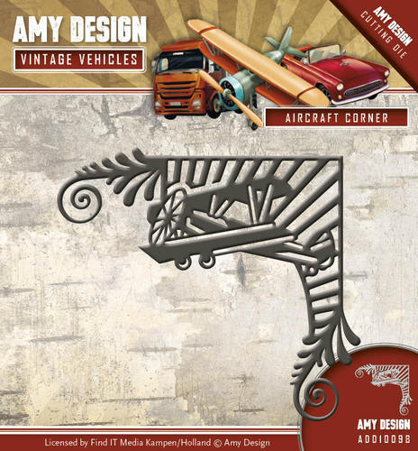 ADD10098 Die - Amy Design - Vintage Vehicles - Aircraft Corner
