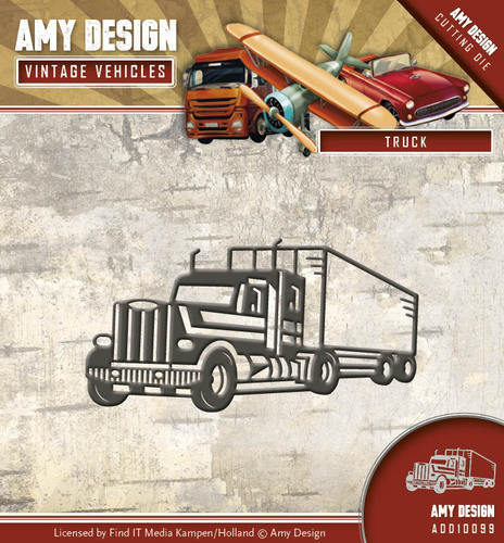 ADD10099 Die - Amy Design - Vintage Vehicles - Truck