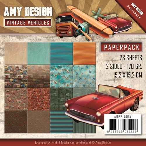 ADPP10016 Paperpack - Amy Design - Vintage Vehicles