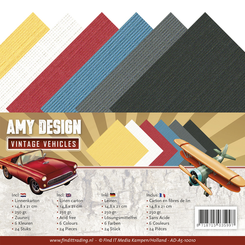 AD-A5-10010 Linnenpakket - A5 - Amy Design - Vintage Vehicles