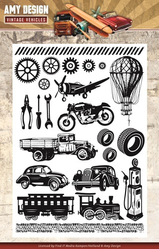ADCS10014 Clearstamp - Amy Design - Vintage Vehicles