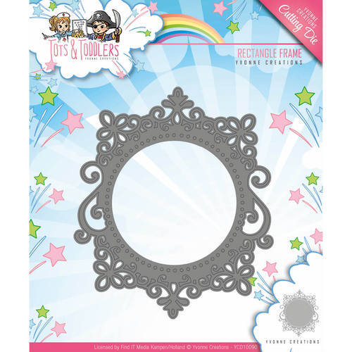YCD10090 Die - Yvonne Creations - Tots and Toddlers - Rectangle Frame