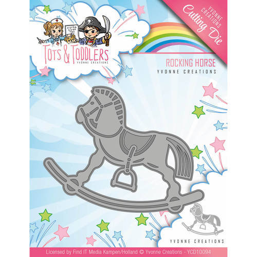YCD10094 Die - Yvonne Creations - Tots and Toddlers - Rocking Horse