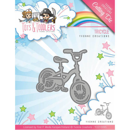 YCD10095 Die - Yvonne Creations - Tots and Toddlers - Tricycle