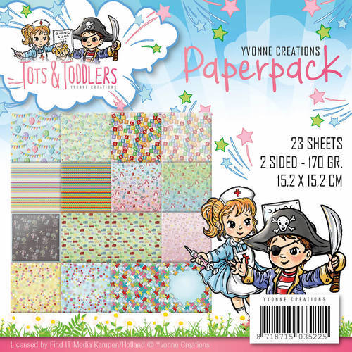YCPP10012 Paperpack - Yvonne Creations - Tots and Toddlers