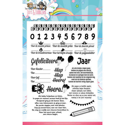 YCCS10031 Clearstamp - Yvonne Creations - Tots and Toddlers - Tekst