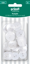 1304 buttons, 19 mm, 15 pieces