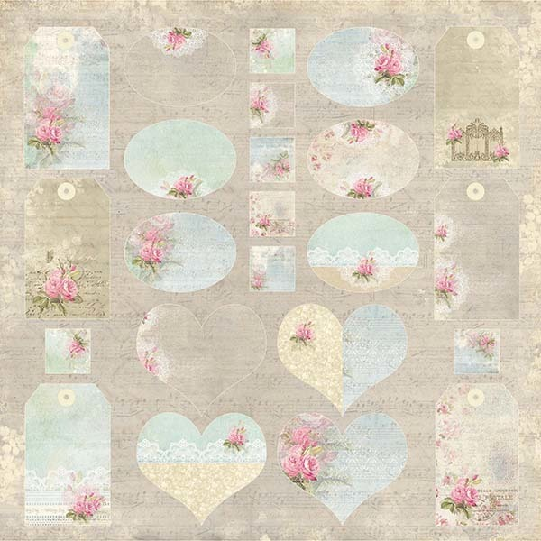 CP-WG07 Wedding Garden Sheet of elements to be cut out 12x12
