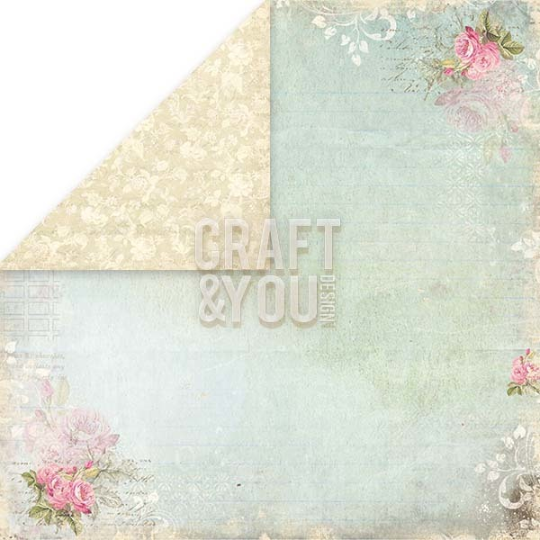 CP-ILV04 I LOVE VINTAGE Scrapbooking single paper 12x12, 200gsm