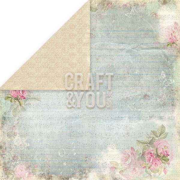 CP-ILV05 I LOVE VINTAGE Scrapbooking single paper 12x12, 200gsm
