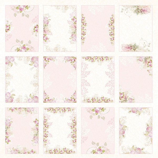 CP-WD07 WHITE DAY Sheet of elements to be cut out 12X12 ,200gsm 10pcs