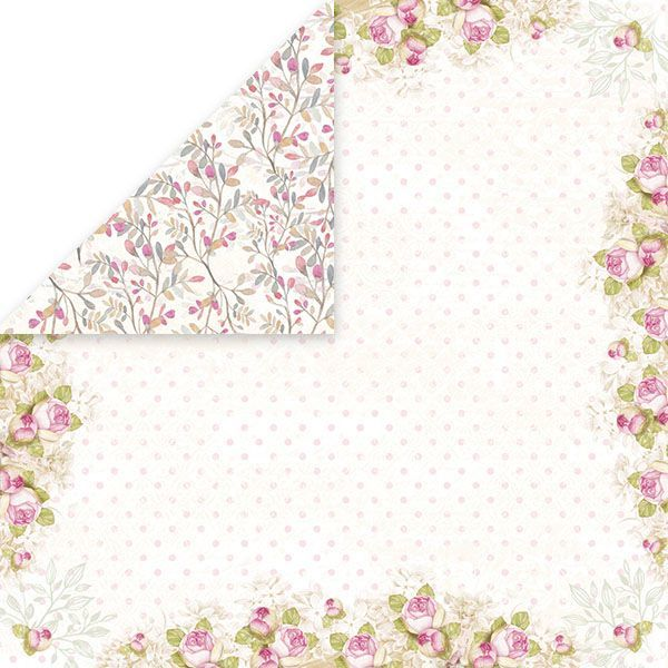 CP-BS02 BIRD SONG Scrapbooking single paper 12x12,200gsm
