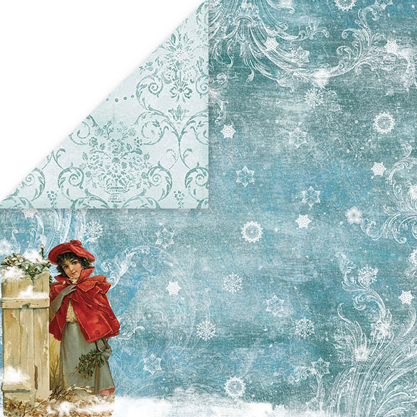 CP-WC05 WHITE CHRISTMAS Scrapbooking single paper 12x12(200gsm)