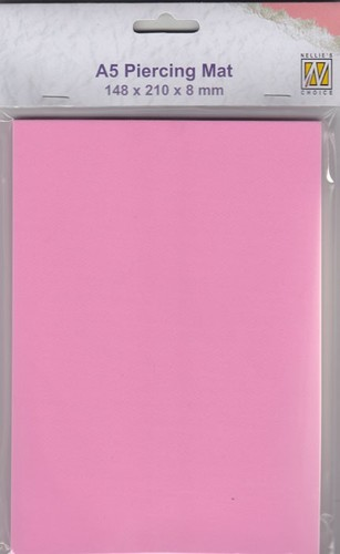 PIM002 piercing mat 148x210x8mm A5 size colour: pink