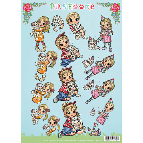 CD10870 3D Knipvel - Yvonne Creations - Puk en Floortje