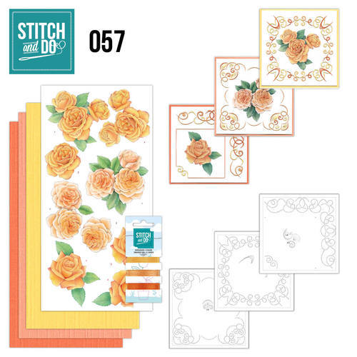 STDO057 Stitch and Do 57 - Oranje rozen