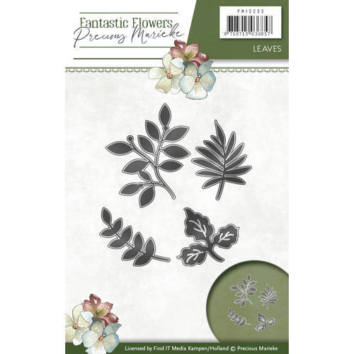 PM10096 Die - Precious Marieke - Fantastic Flowers - Leaves