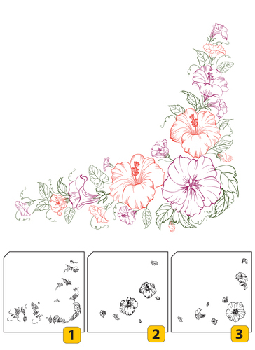 LCS004 Layered Clear stamps - Corner-1 (3 pcs)