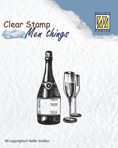 CSMT003 Clear stamps - Men things - Wine