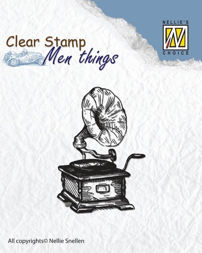 CSMT002 Clear stamps - Men things - Gramophone