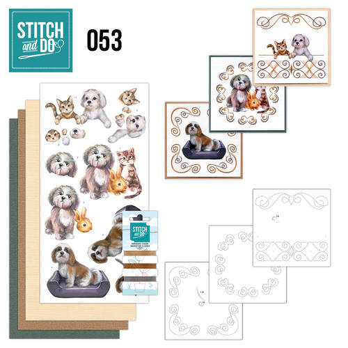 STDO053 Stitch and Do 53 - Huisdieren