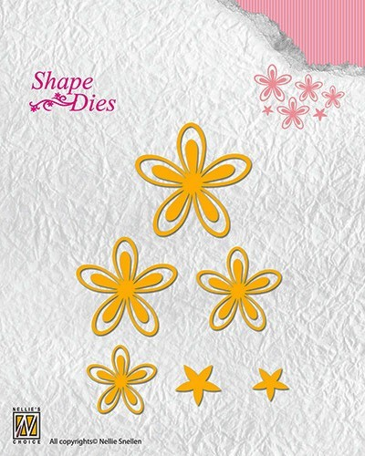 SD126 Shape Dies text flowers-3