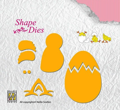 SD128 Shape Dies Lene Design build-up chicken & egg