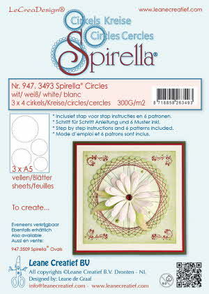 947.3493 Spirella 12 pre-cut circles 300 gr. 4 different sizes, white incl. instructions and 6 pat