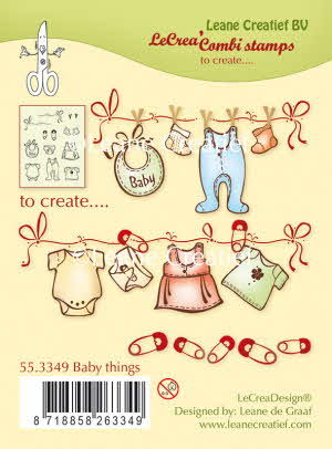 55.3349 Combi clear stamp Baby Things