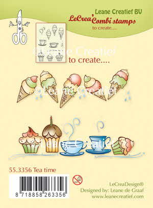 55.3356 Combi clear stamp Tea time