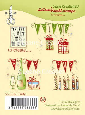 55.3363 Combi clear stamp Party