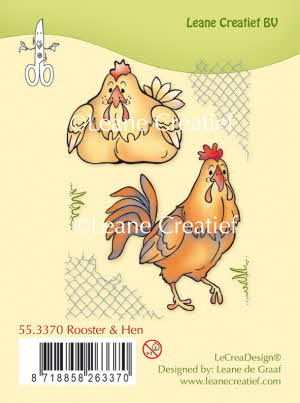 Clear stamp Rooster & Hen