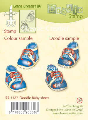 55.3387 Doodle clear stamp Baby shoes