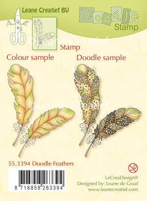 55.3394 Doodle clear stamp Feathers