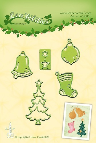 Lea'bilitie® Christmas ornaments small cut and embossing die