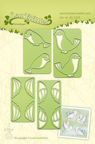 Lea'bilitie® small Birds cut and embossing die