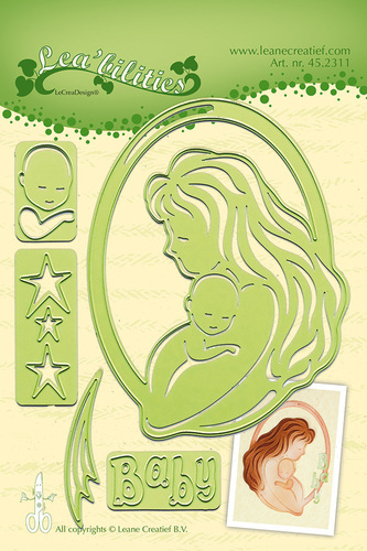 Lea'bilitie® Mother & Child cut and embossing die