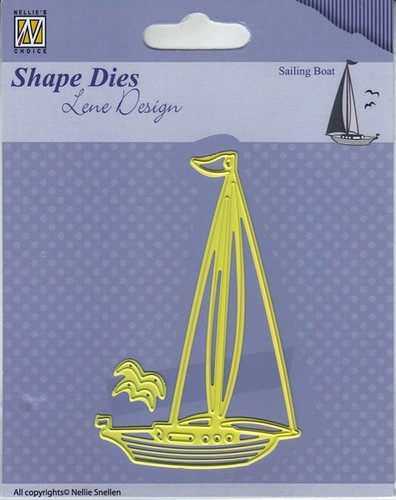SDL039 Shape Dies - Lene Design - Men things - Sailingboat