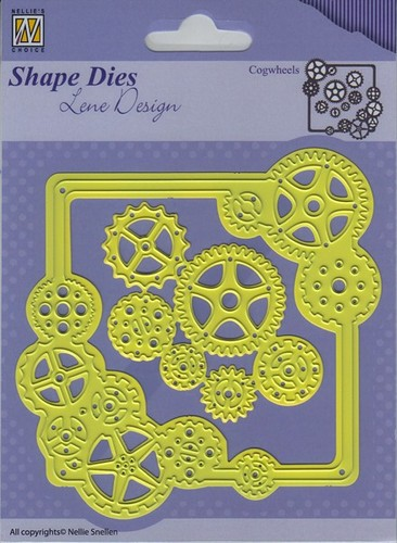 SDL038 Shape Dies - Lene Design - Men things - Cogwheels