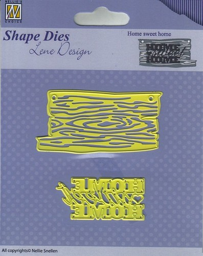 SDL035 Shape Dies - Lene Design - Men things - Home sweet home
